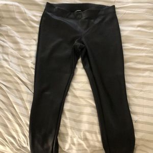 Express black leather leggings